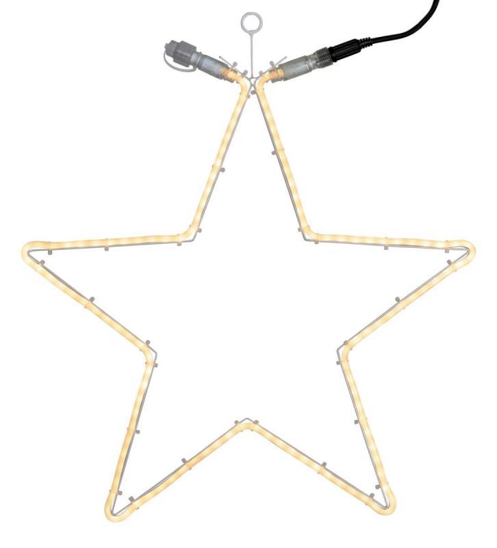 EXTRA SYSTEM 24 Stjärna 60cm 120LED Vit IP44