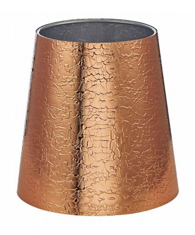 LAMPSKÄRM PVC 17cm Koppar/Silver