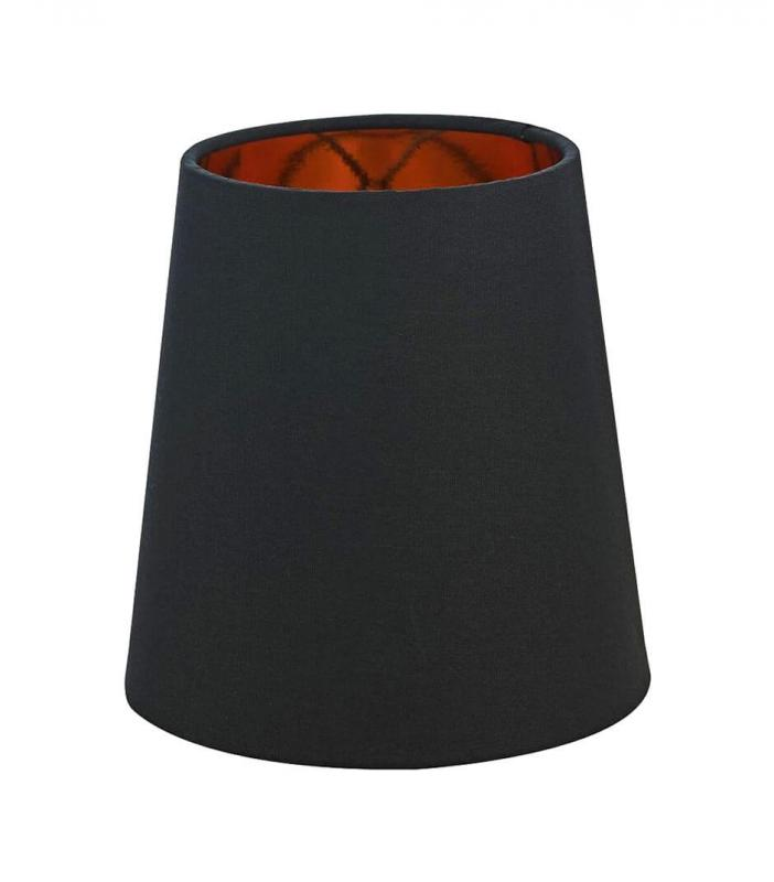ORIVA Lampskärm Bomull 14,5cm Svart/Guld