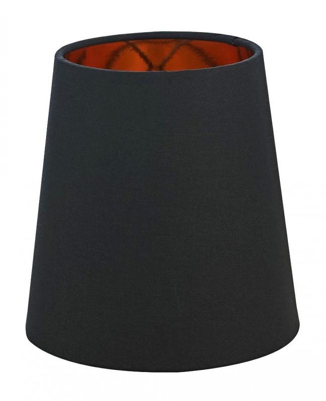 ORIVA Lampskärm Bomull 17cm Svart/Guld