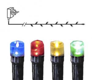 SERIE LED Ljusslinga 16m 160LED IP44 Flerfärgad Svart