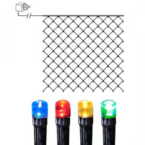 Ljusnät 3x3m Serie LED Flerfärgad/Svart