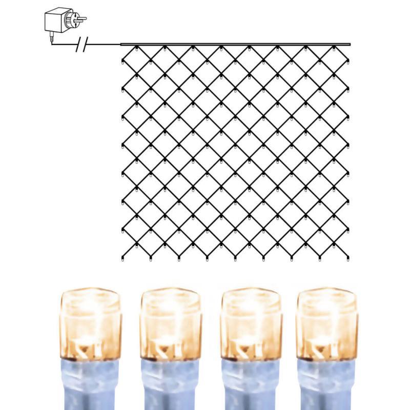 Ljusnät 3x3m Serie LED Varmvit/Vit