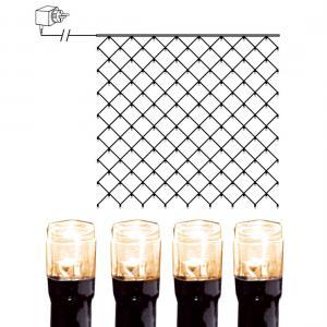 Ljusnät 3x3m Serie LED Varmvit/Svart