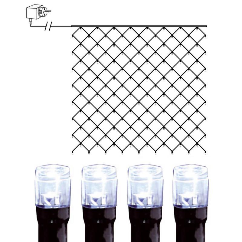 Ljusnät 3x3m Serie LED Kallvit/Svart