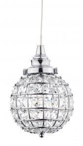 FÖNSTERLAMPA Kristallboll K9 10cm Krom