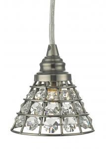 FÖNSTERLAMPA Kristall K9 10cm Svart/Nickel