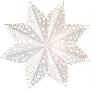 HOLLY Lös Pappersstjärna 60cm Vit