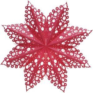 HOLLY Lös Pappersstjärna 60cm Röd