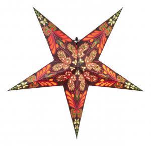 BLAZE Pappersstjärna 60cm Röd/Svart