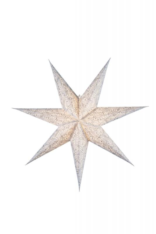 Dazzling Pappersstjärna 80 cm Vit