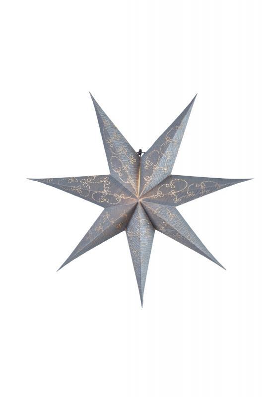 Decorus Pappersstjärna 63 cm Silver