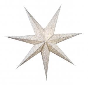 DAZZLING Pappersstjärna 150cm Vit