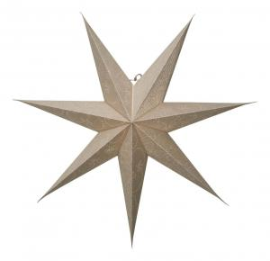 DECORUS Pappersstjärna 78cm Guld