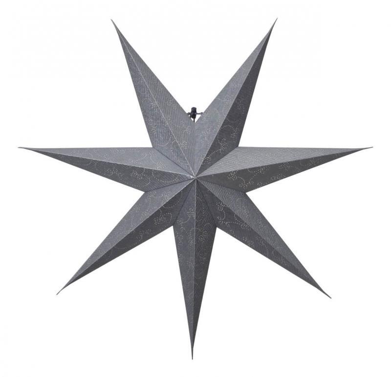 DECORUS Pappersstjärna 80cm Silver
