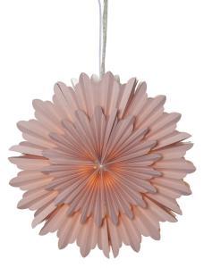 CRYSTAL Pappersstjärna 50cm Rosa