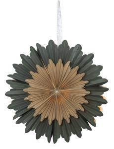 CRYSTAL Pappersstjärna 50cm Grön