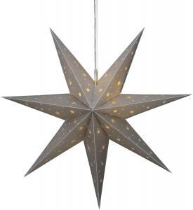 ALICE Stjärna 60cm 12LED IP44 Silver