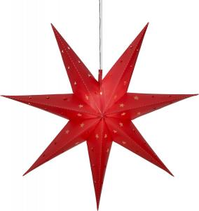 ALICE Stjärna 60cm 12LED IP44 Röd