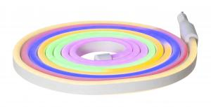 FLATNEON Ljusslang 3m Flerfärgad