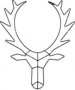 Cupid Renhuvud 50 cm Svart