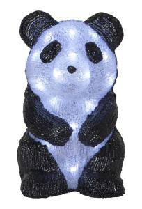 CRYSTALO Dekorationsfigur Panda 20L 27cm Svart