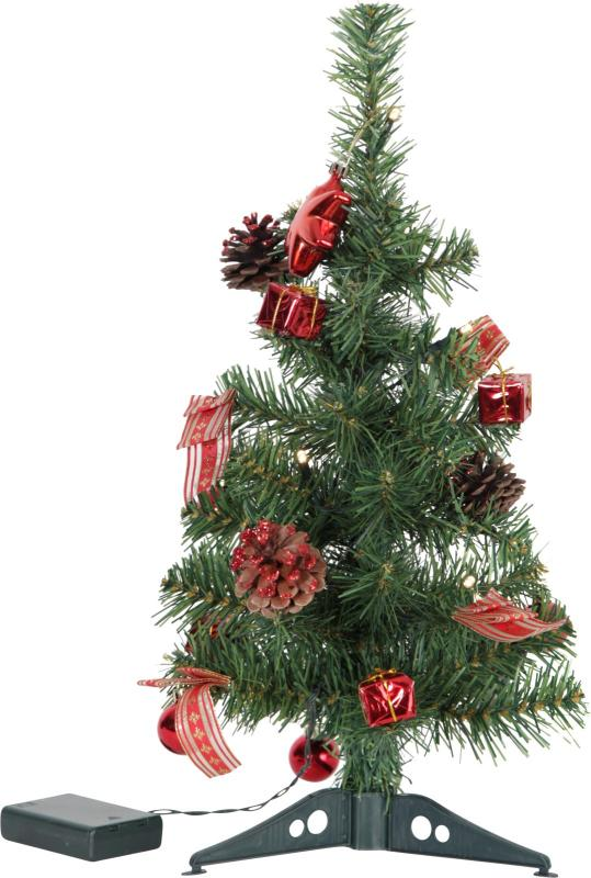 Gran Decorage Dekorationsträd 45cm Röd