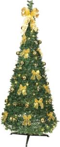 POP-UP-TREE Julgran med Gulddekoration 185cm 144LED