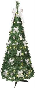 POP-UP-TREE Julgran med Silverdekoration 185cm 144LED