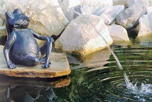 Vattensprutande Groda Stor 32cm
