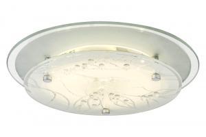 DENISE LED-Plafond 25cm Vit/Krom