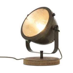 ALASKA Bordslampa 21cm Järngrå/Trä