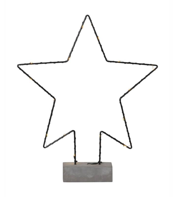 CEMMY Stjärna Dekoration 35,5cm Svart
