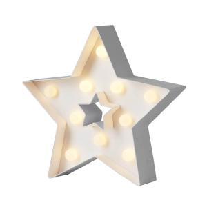 PAPYRUZ Stjärna 21cm 10LED Vit