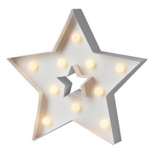 PAPYRUZ Stjärna 27cm 10LED Vit