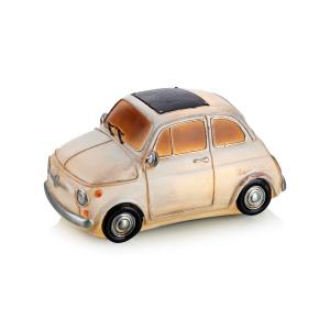 NOSTALGI Bordsdekoration Fiat Bil Vit