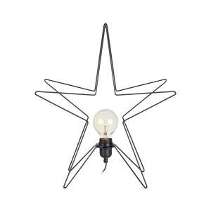 ASTERIX Stjärna Bordsdekoration 3D 49cm Svart