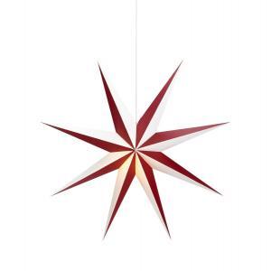 ALVA Pappersstjärna Hängande 75cm Vinröd/Vit E14