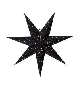CLARA Stjärna Hängande 75cm Svart