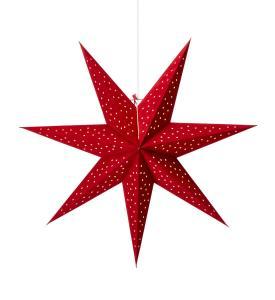 CLARA Stjärna Hängande 75cm Röd