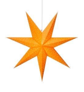CLARA Stjärna Hängande 75cm Saffran