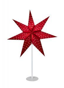 CLARA Bordsstjärna 65cm Röd/Vit
