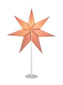 CLARA Bordsstjärna 65cm Rosa/Vit