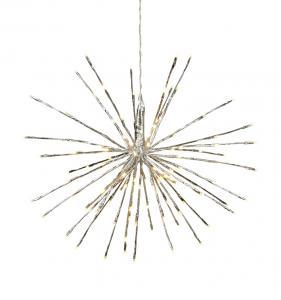 Firework Hängande dekoration 55cm Silver