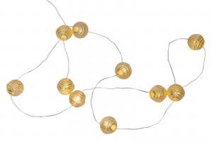 DEW DROP Boll-Ljusslinga 90cm Guld