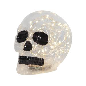 HALLOWEEN Glasdekoration 13,5cm 70LED Transparent