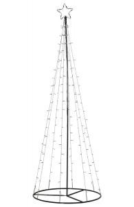 LIGHT TREE Utomhusdekoration 75cm 170LED IP44 Svart