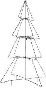 FOLDY Dekorationsträd Utomhus 300LED 170cm Svart IP44