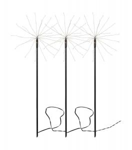 FIREWORK 3-Pack Utedekoration 65cm 180LED Svart IP44
