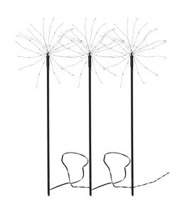 FIREWORK 3-Pack Utedekoration 65cm 180LED Flerfärgad IP44